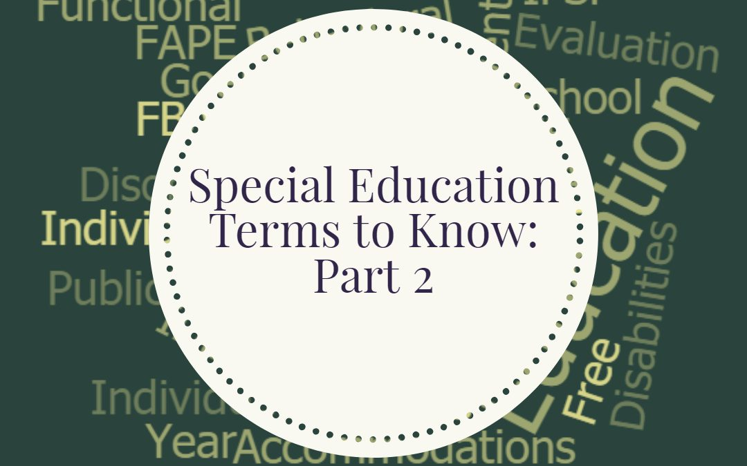 Special Education Terms to Know: Part 2